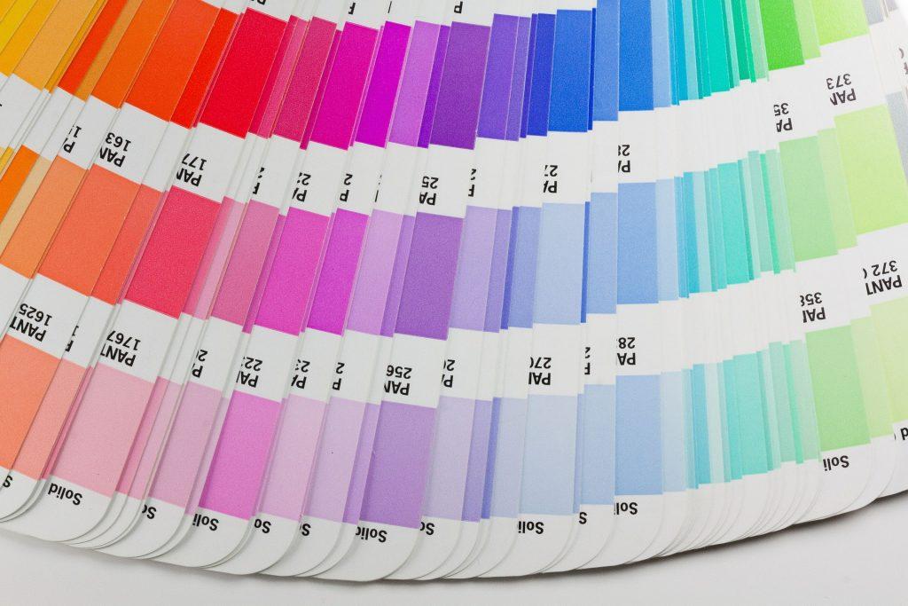 pantone color fan