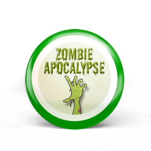 zombie hand badge