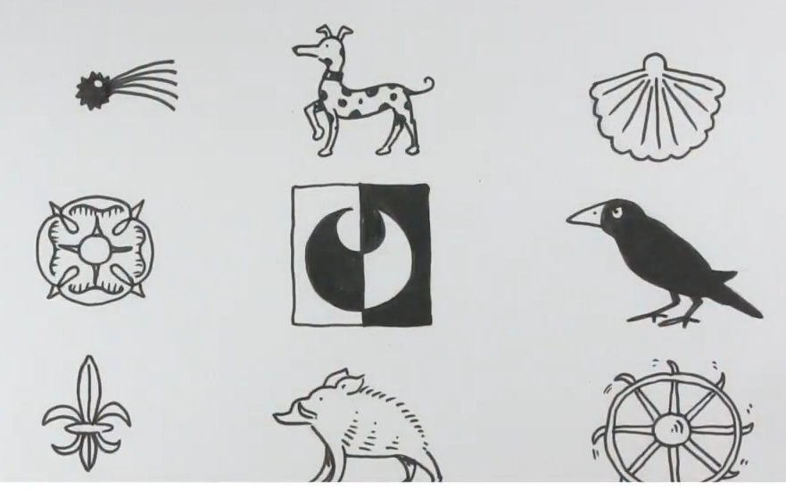 drawings of heraldic charges
