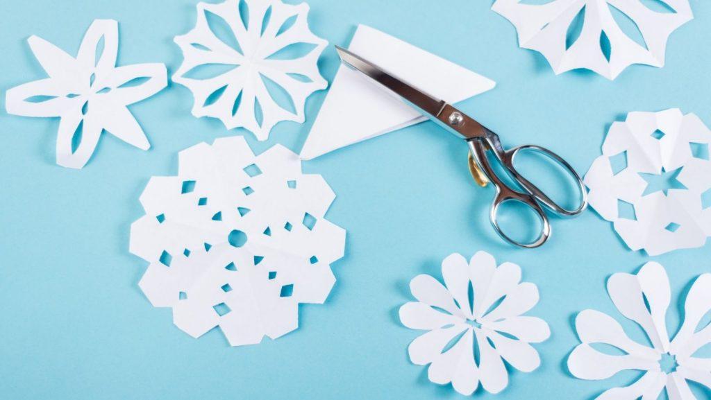 snow lesson plan paper snowflakes