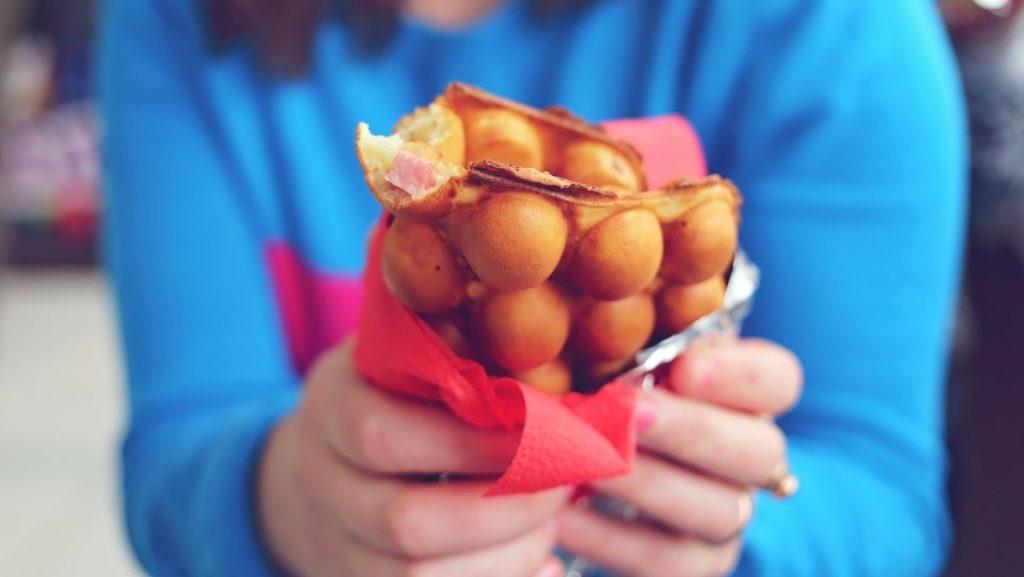 hong kong waffle egg waffle bubble waffle