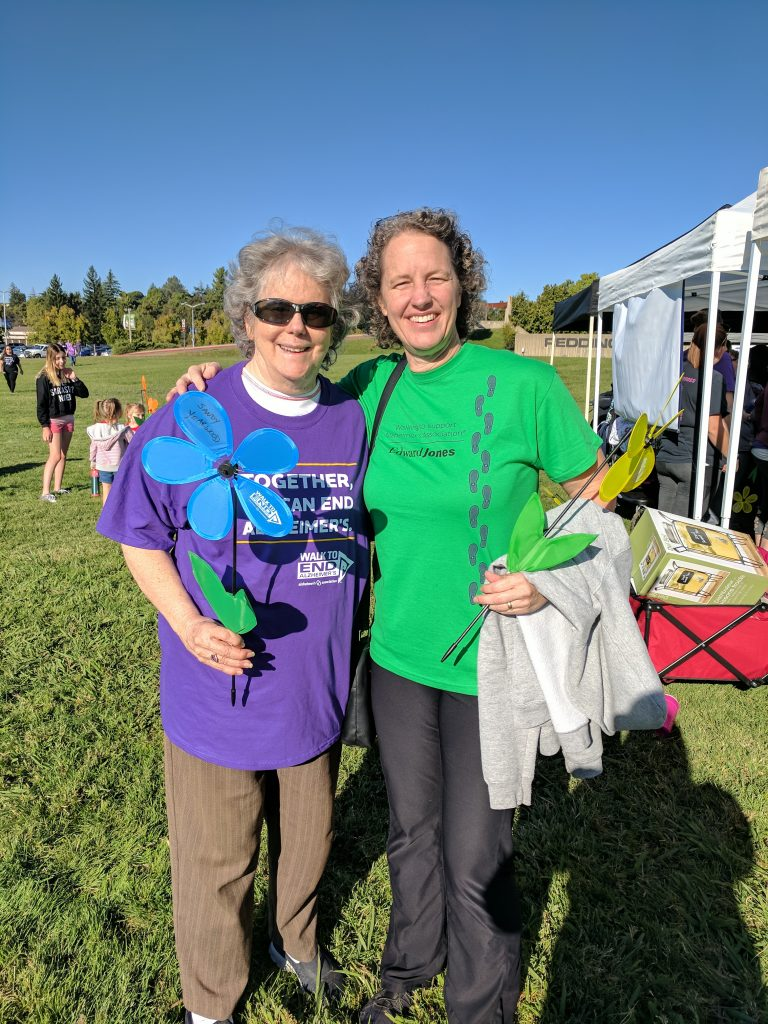 Sandy Yearwood and Kerry Cordy at the Alzheimer walk