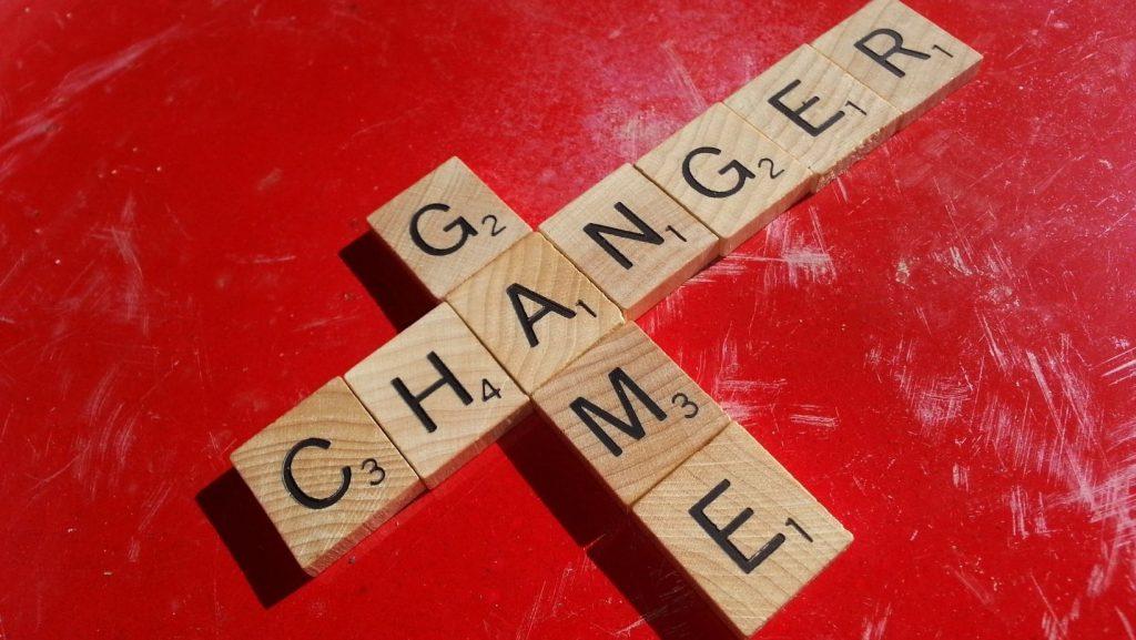 scrabble tiles spelling game changer