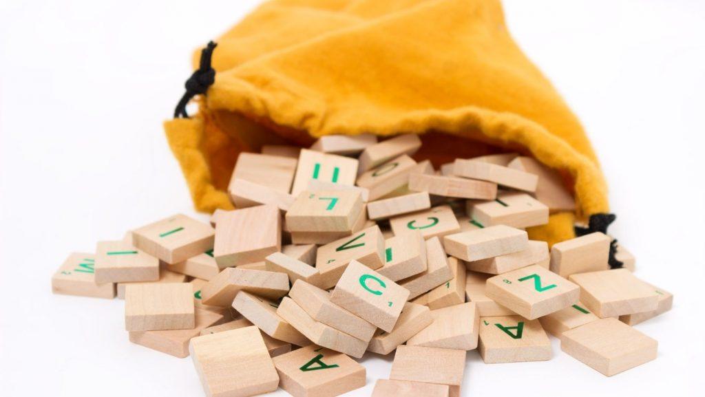 spilled scrabble tiles