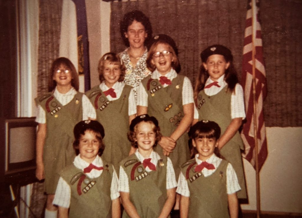 Sandy Yearwood and her Girl Scout troop in 1978