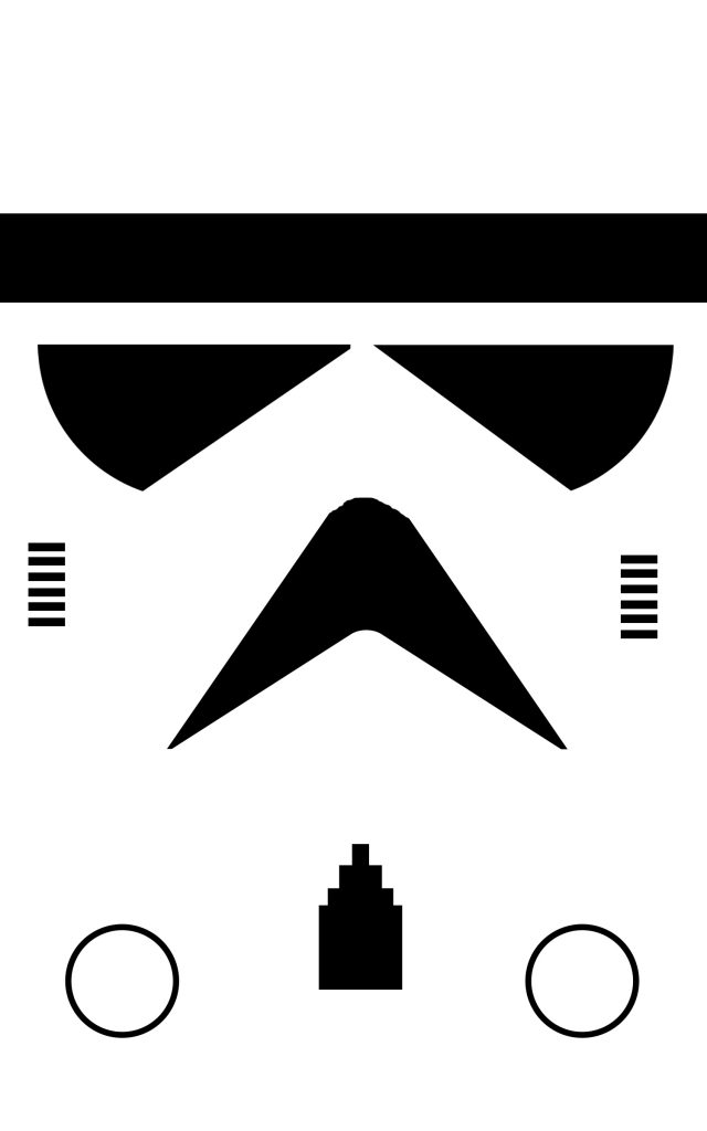template for making stormtrooper gift bags