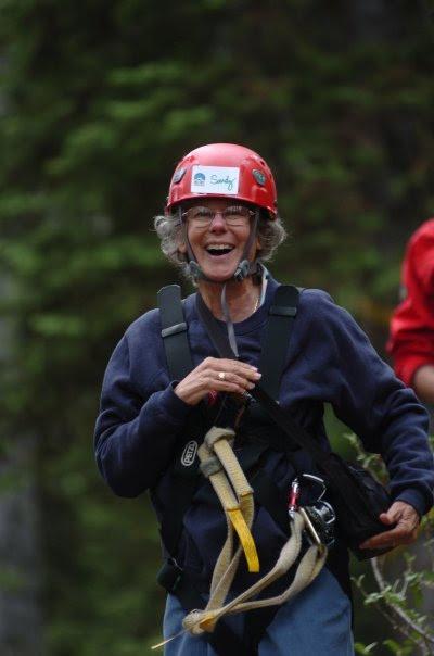 Sandy Yearwood ziplining