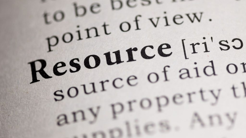 image from dictionary of the word resource and its definition
